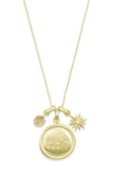 Image of Kendra Scott 14K Gold Plated Scorpio Charm Necklace
