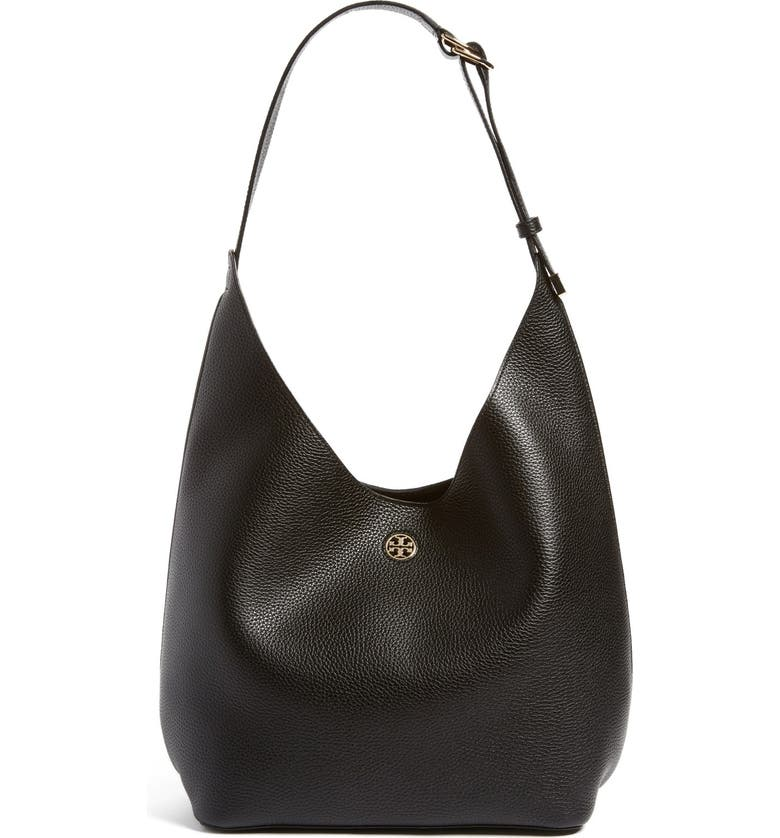 TORY BURCH 'Perry' Leather Hobo, Main, color, 009