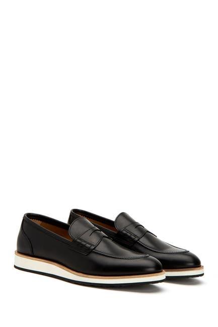 Image of Aquatalia Pearson Leather Penny Loafer
