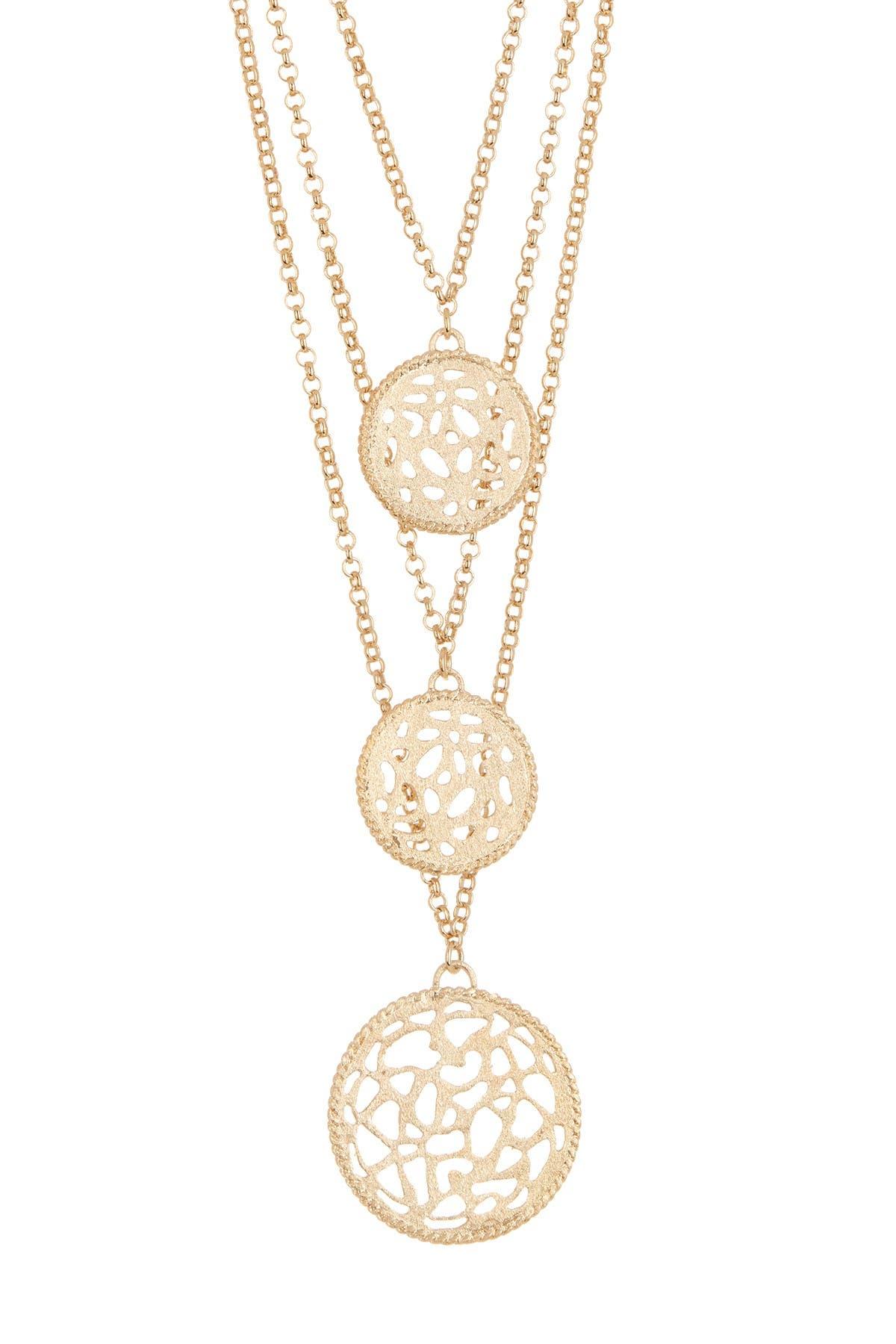 Image of Rivka Friedman 18K Gold-Plated Brass Layered  Medallion Necklace