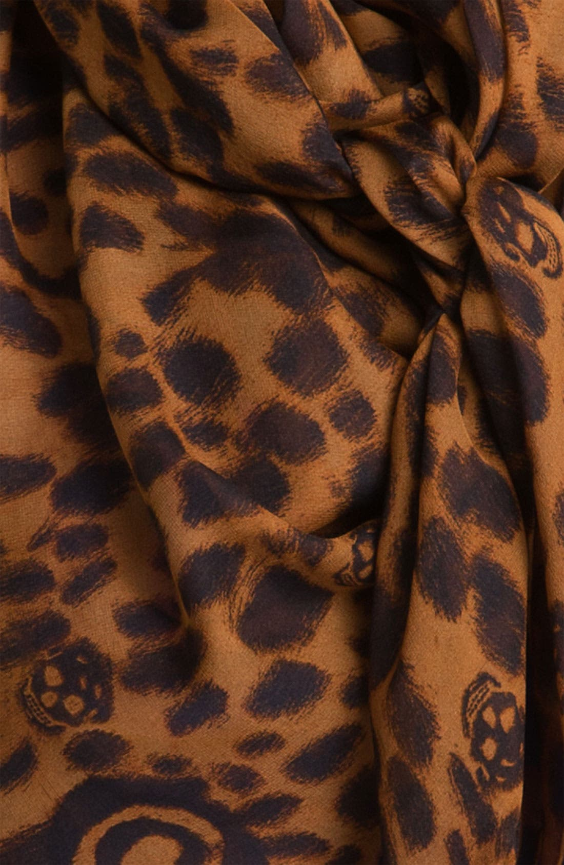,                             'Leopard Skull' Chiffon Scarf,                             Alternate thumbnail 10, color,                             300