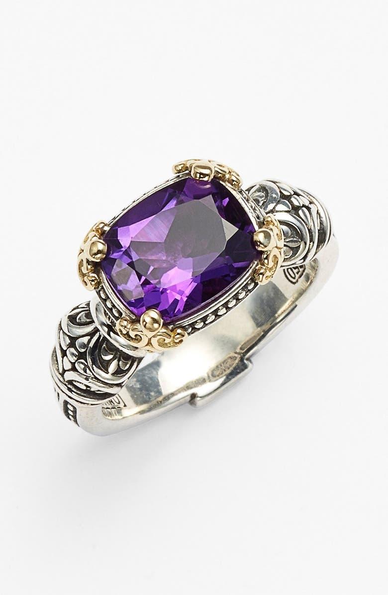 KONSTANTINO Hermione Stone Ring, Main, color, SILVER/ PURPLE
