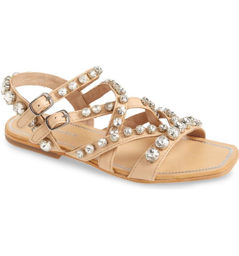 JEFFREY CAMPBELL Calath-J Crystal Embellished Strappy Sandal, Main, color, NATURAL CLEAR
