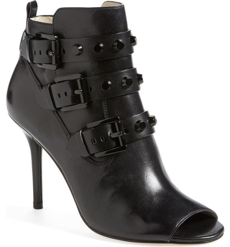 MICHAEL MICHAEL KORS 'Bryn' Open Toe Bootie, Main, color, 001