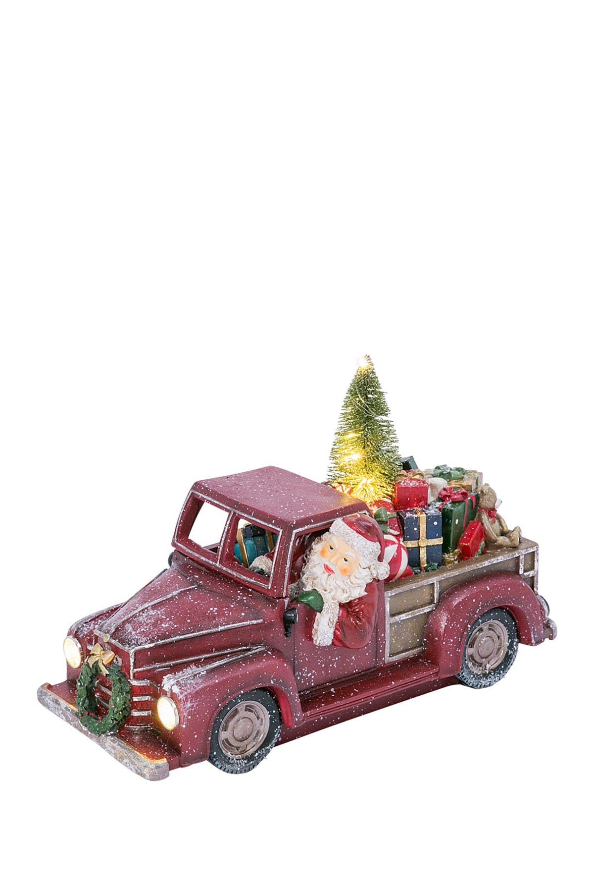 """Image of Gerson Company 16.45""""L Santa & Presents Lighted Holiday Truck"""