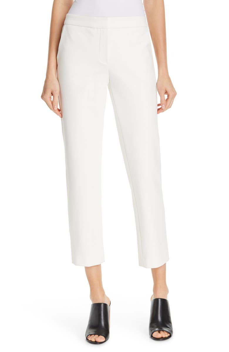 JUDITH & CHARLES Rebecca Crop Pants, Main, color, OFF-WHITE