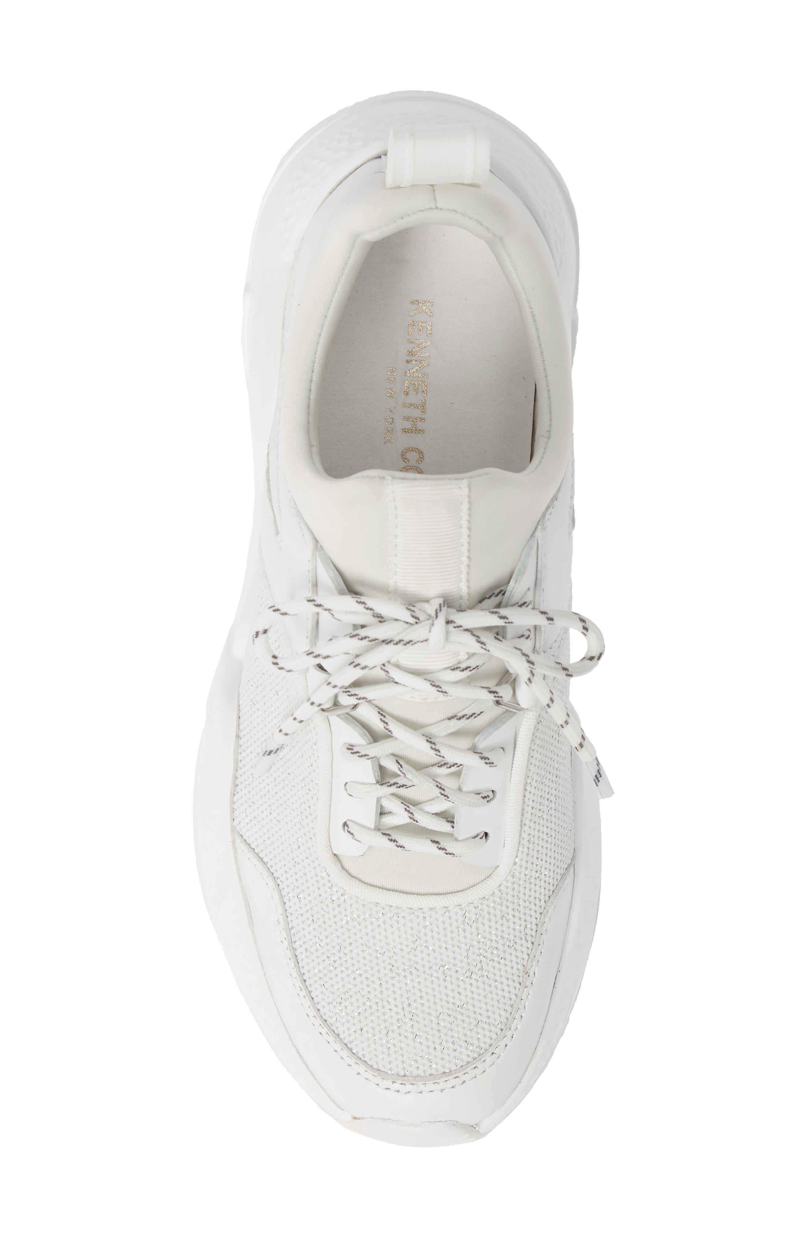 ,                             Maddox Sneaker,                             Alternate thumbnail 5, color,                             WHITE KNIT