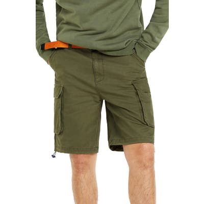 Tommy Jeans Washed Twill Cargo Shorts, Green