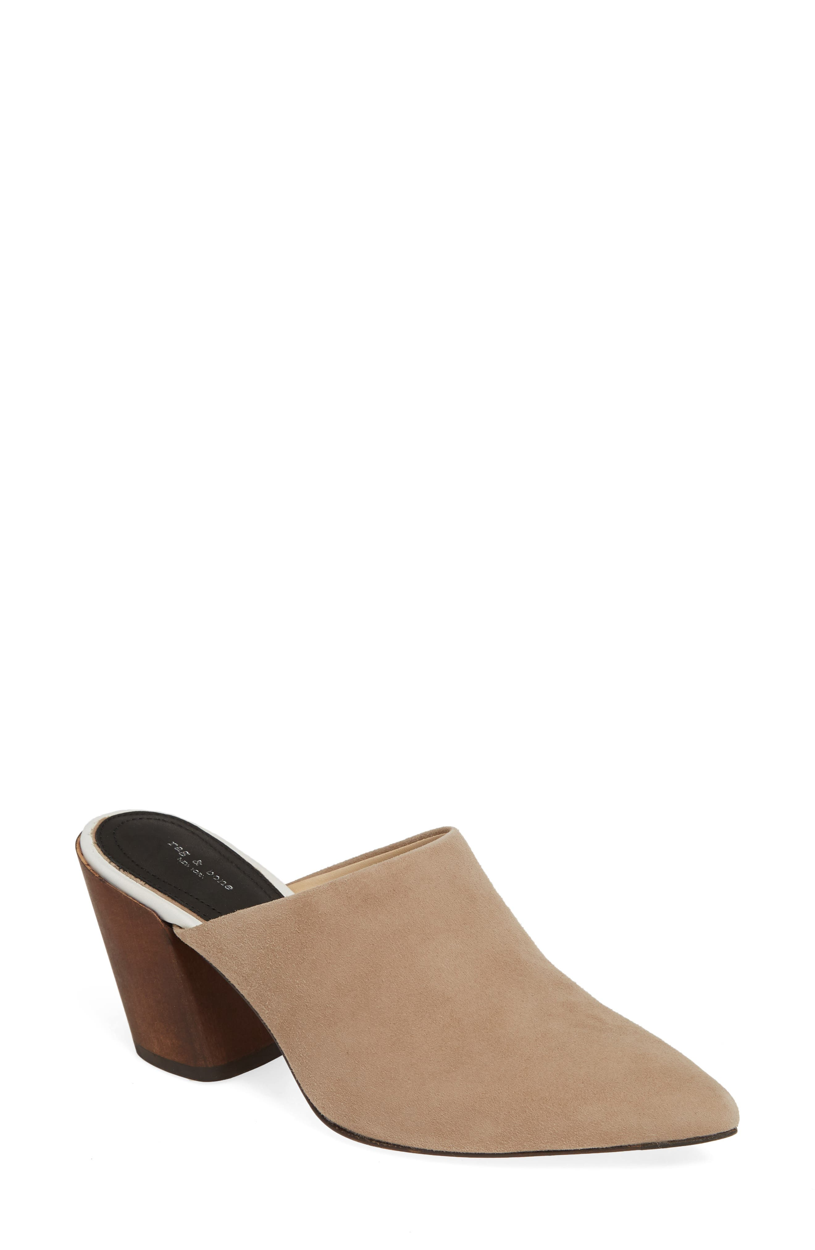 Beha Pointy Toe Mule, Main, color, 201
