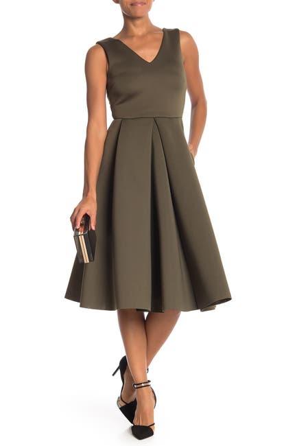 Image of Love...Ady Double V Scuba Midi Dress