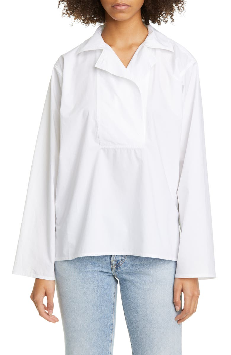 SOFIE D'HOORE Cotton Poplin Shirt, Main, color, 100