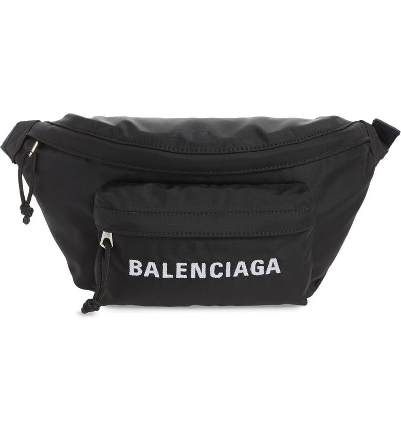 BALENCIAGA Wheel Belt Bag, Main, color, 006