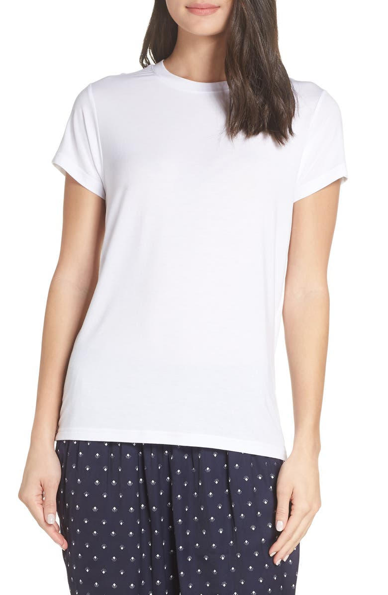 SOMETHING NAVY Easy Tee, Main, color, WHITE