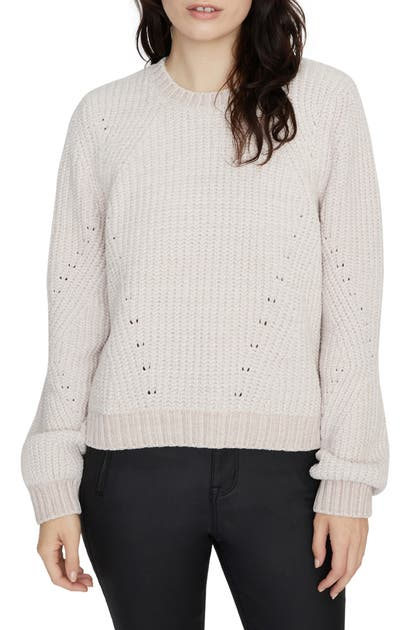 Sanctuary Sweaters CHENILLE OUT POINTELLE SWEATER