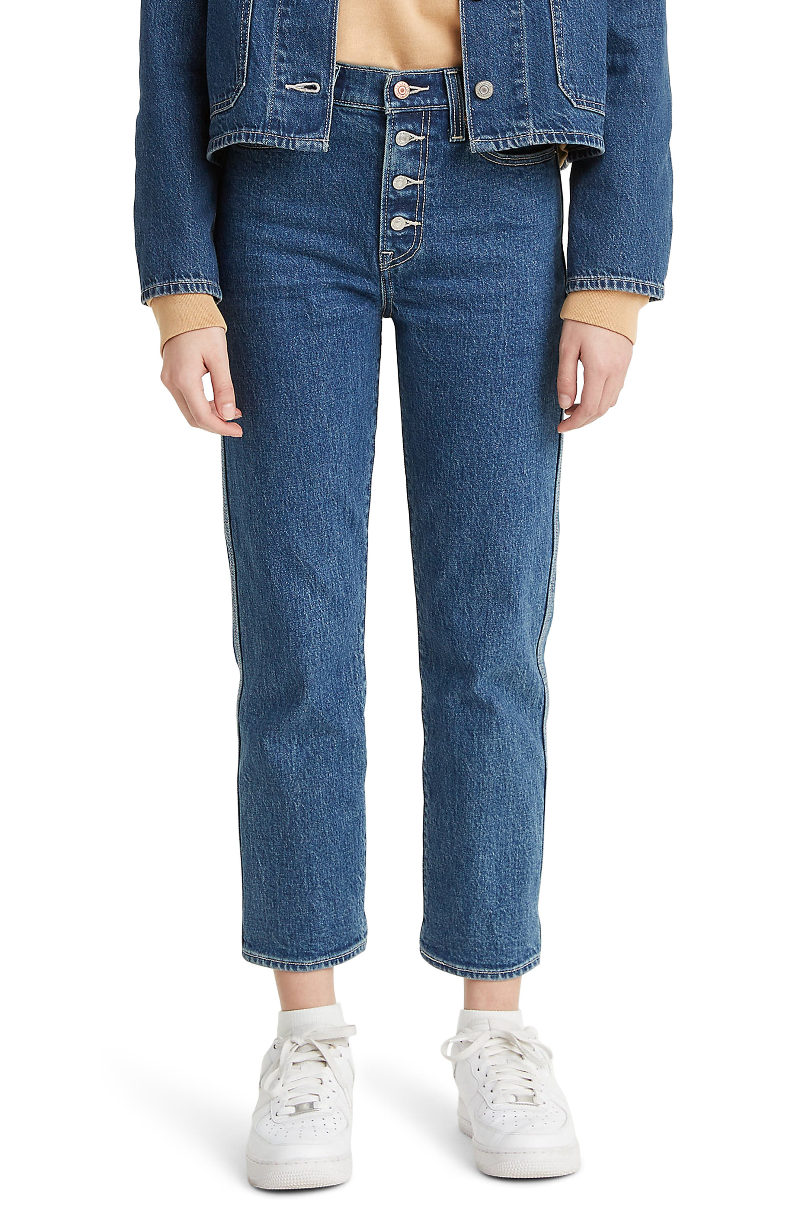 Levi's® Wedgie High Waist Crop Straight Leg Jeans (Middle Sister)   Nordstrom