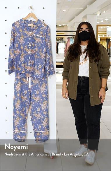 Lolou Floral Cotton & Silk Pajamas, sales video thumbnail
