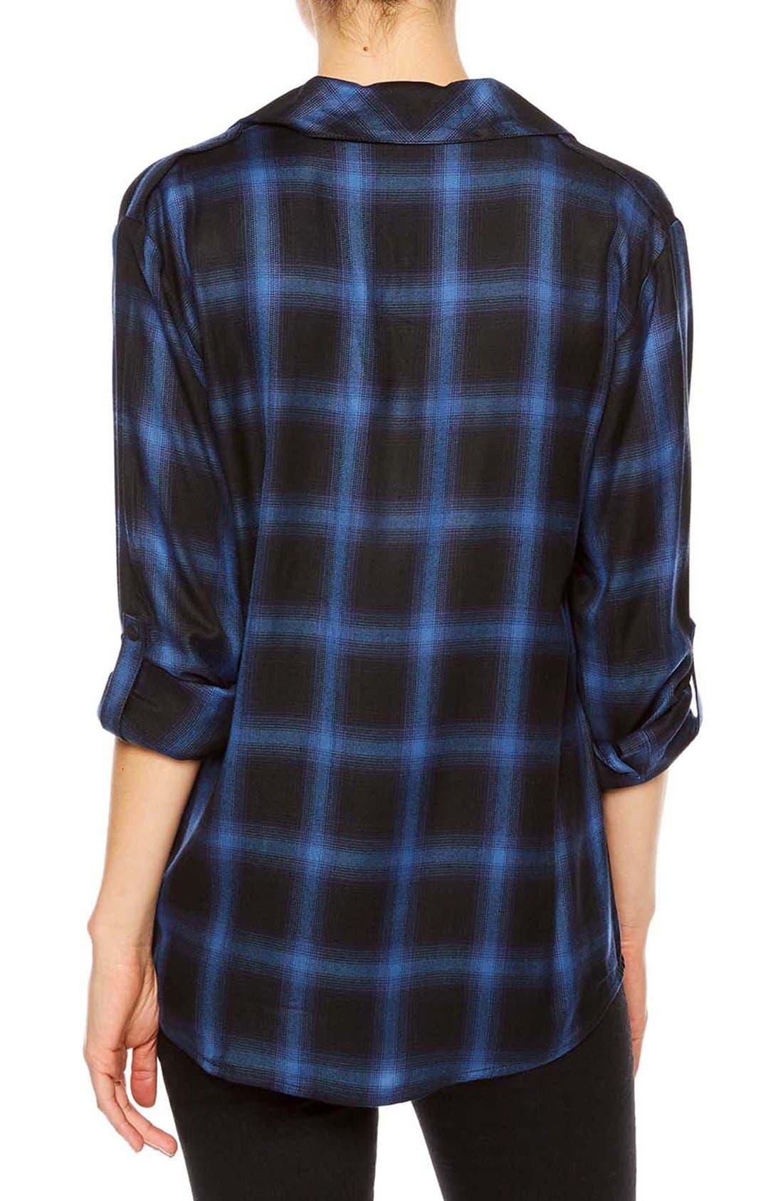 ,                             Plaid Flannel Boyfriend Shirt,                             Alternate thumbnail 8, color,                             497