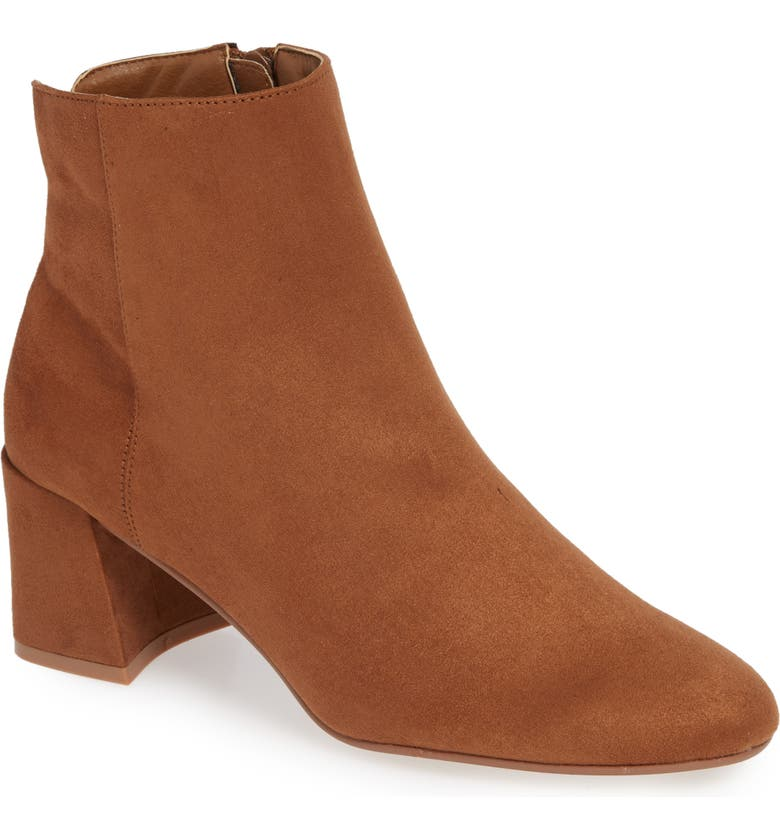 CHINESE LAUNDRY Daria Bootie, Main, color, TAN SUEDE