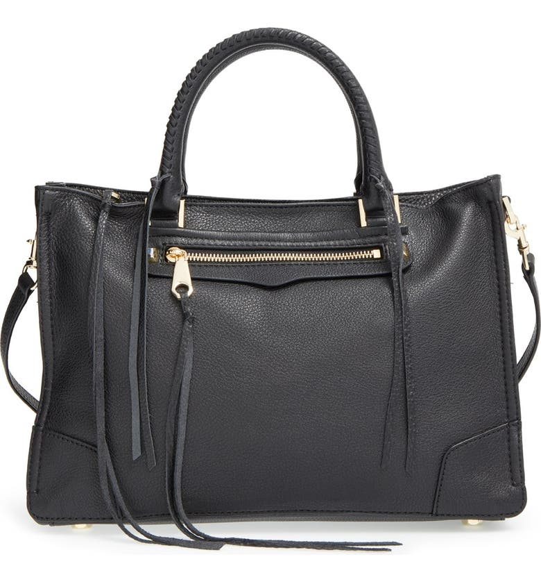 REBECCA MINKOFF 'Regan' Satchel, Main, color, 001