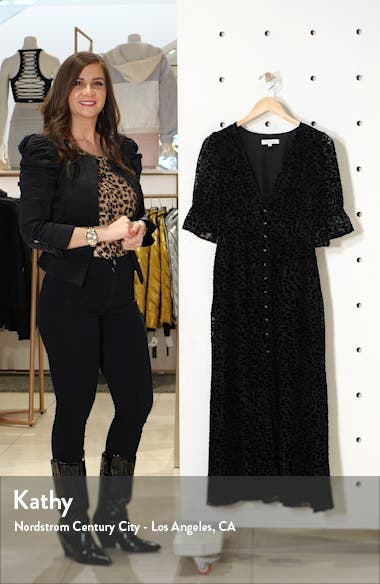 Giselle Leopard Spot Burnout Velvet Dress, sales video thumbnail