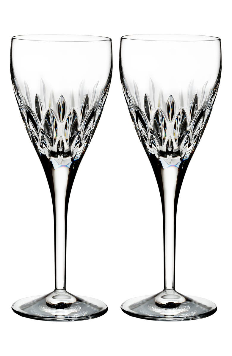 WATERFORD Enis Set of 2 Leaded Crystal Wine Glasses, Main, color, ENIS