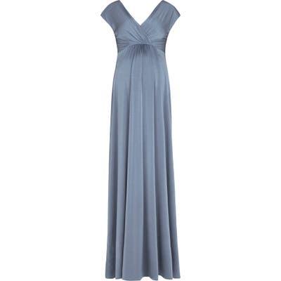 Tiffany Rose Francesca Maternity/nursing Maxi Dress, Blue