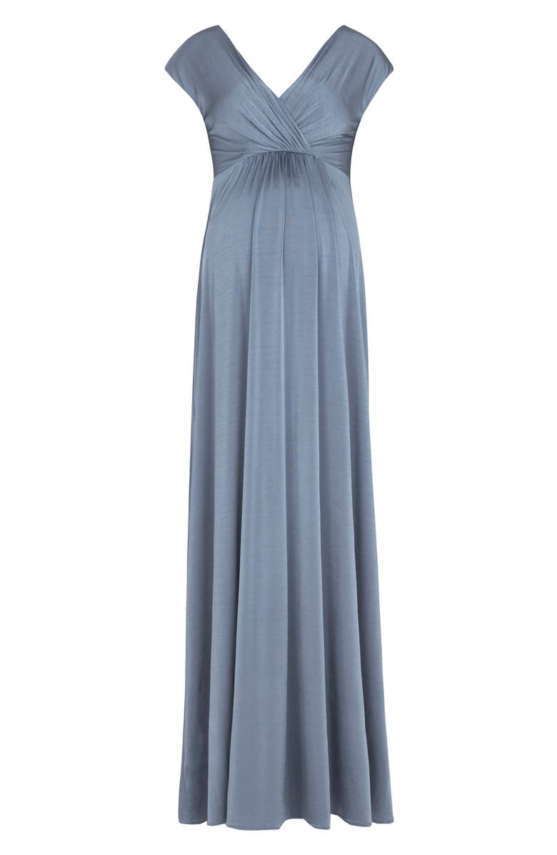 TIFFANY ROSE Francesca Maternity/Nursing Maxi Dress, Main, color, BLUE