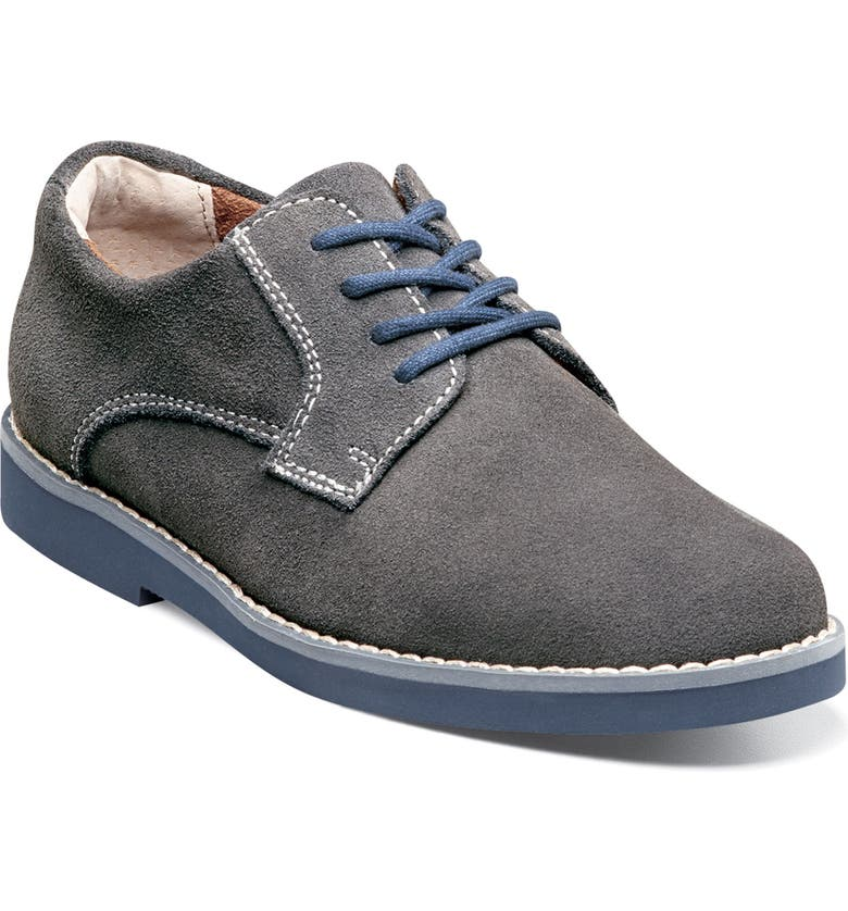 FLORSHEIM Kearny Two Tone Oxford, Main, color, GREY/ NAVY SOLE