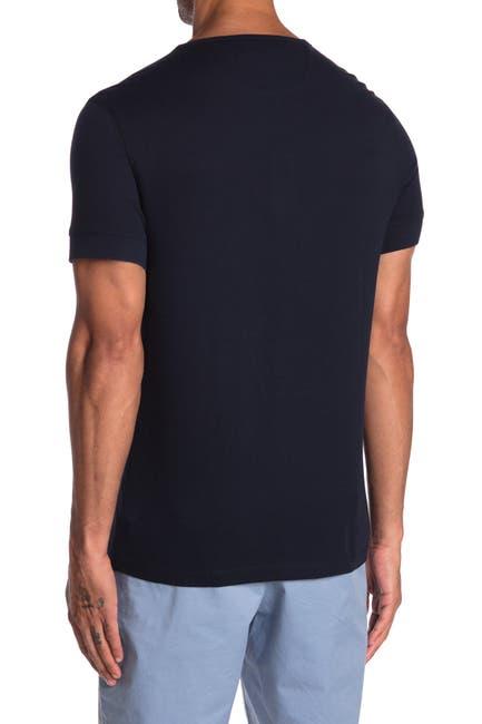 Image of Michael Kors Crepe Short Sleeve Henley