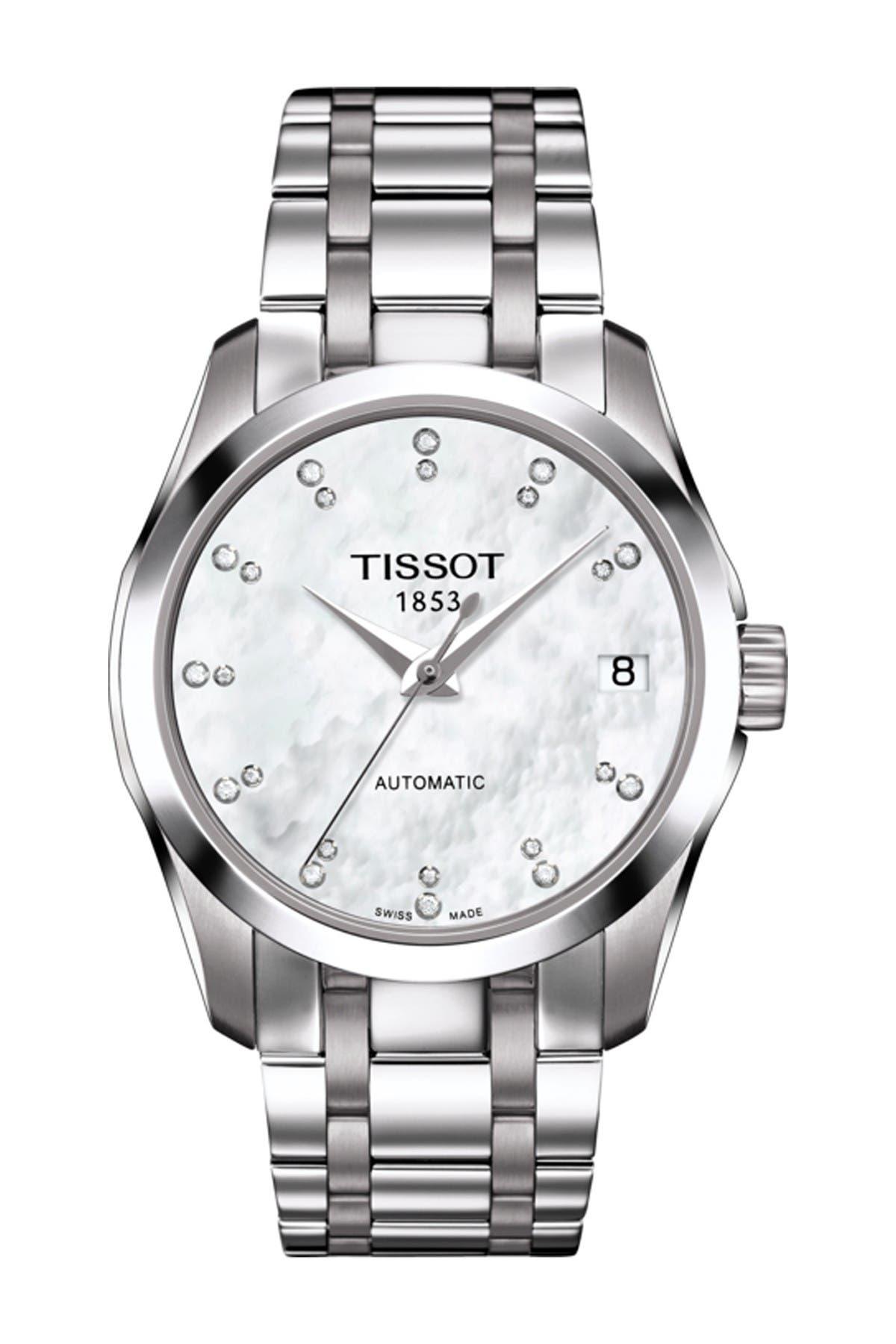 Image of Tissot Women's Couturier Automatic Lady Bracelet Watch, 32mm - 0.0781 ctw