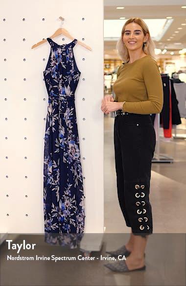 Floral Halter Maxi Dress, sales video thumbnail