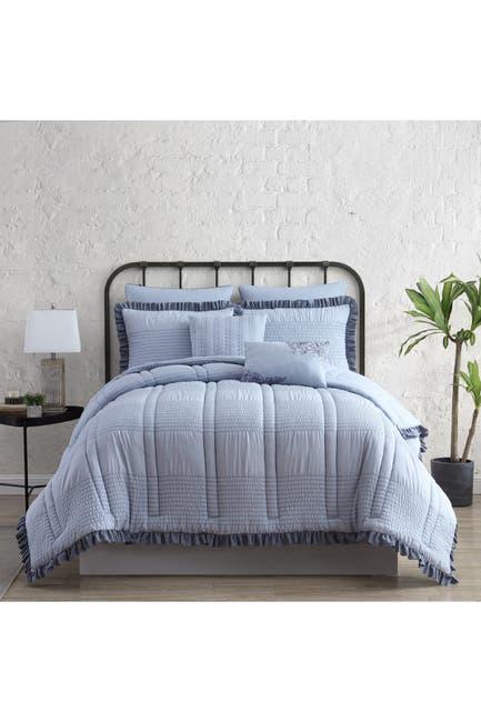 Image of Modern Threads 7-Piece Seersucker Comforter Set - Cotswold - King