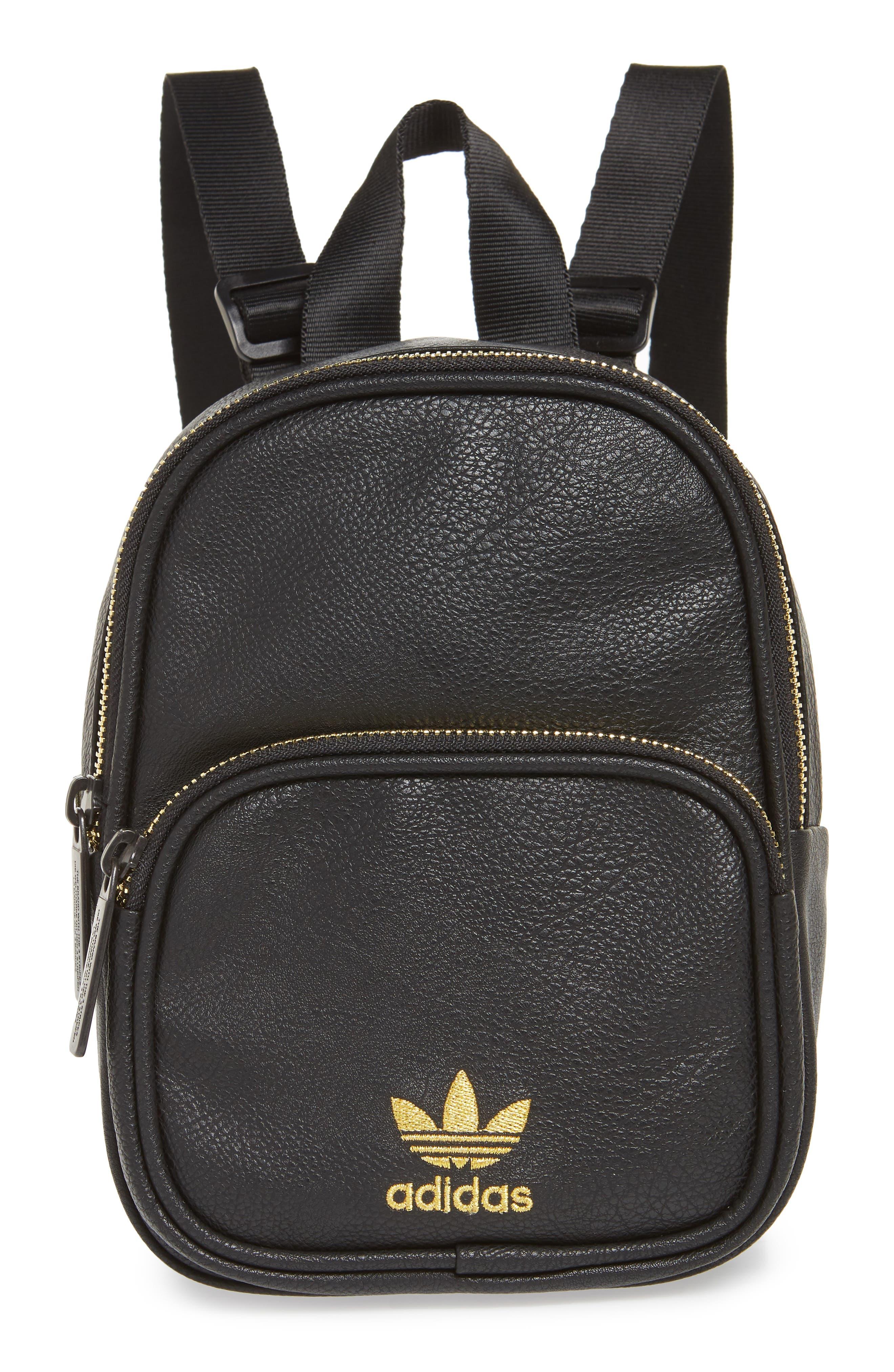 Adidas Originals Mini Faux Leather Backpack - Black