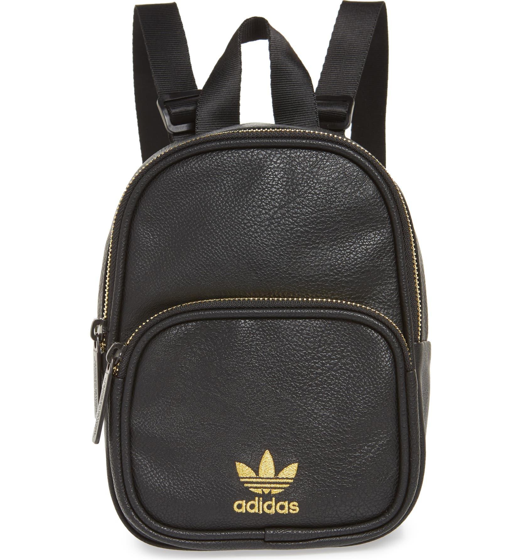 Adidas Originals Mini classic x faux leather backpack   Luisaviaroma