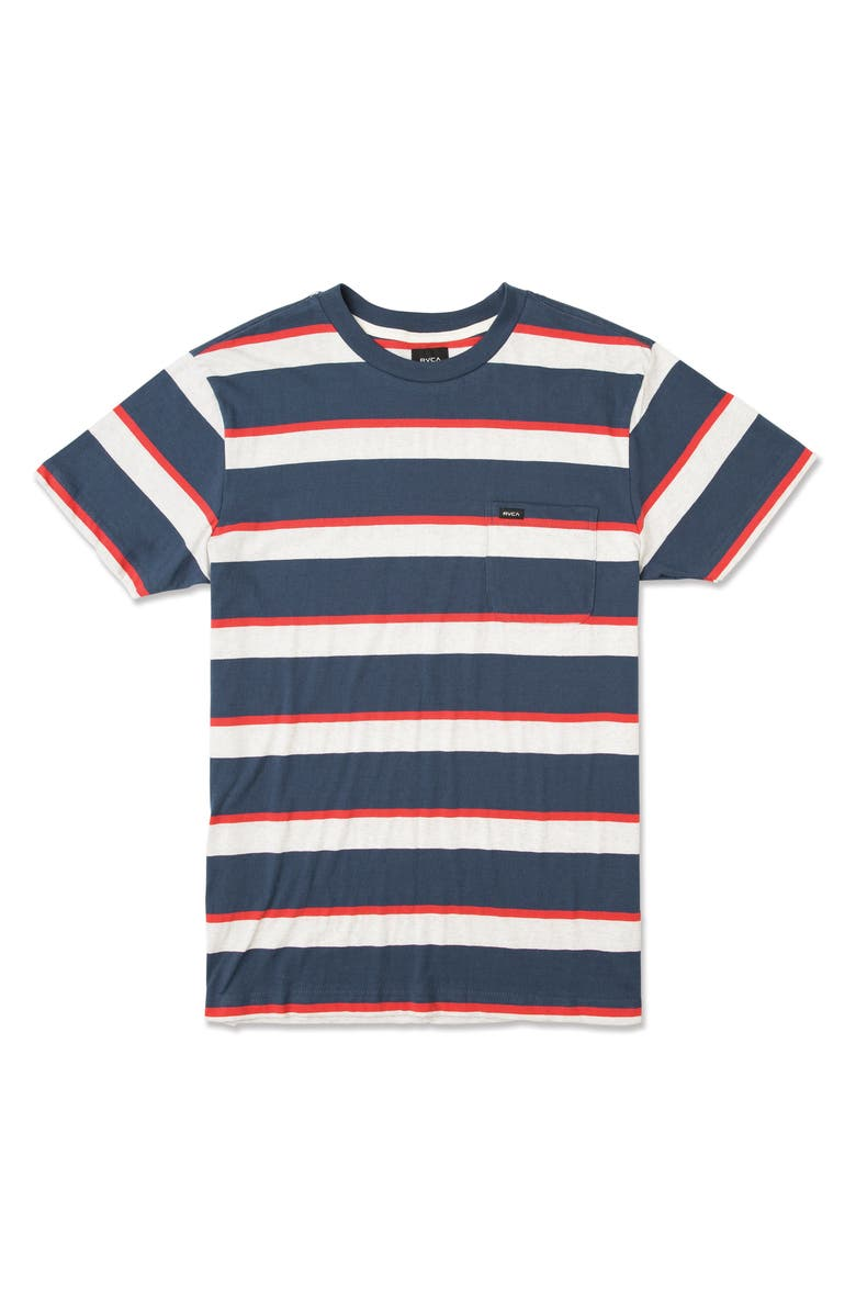 RVCA Fjord Stripe Pocket T-Shirt, Main, color, 487