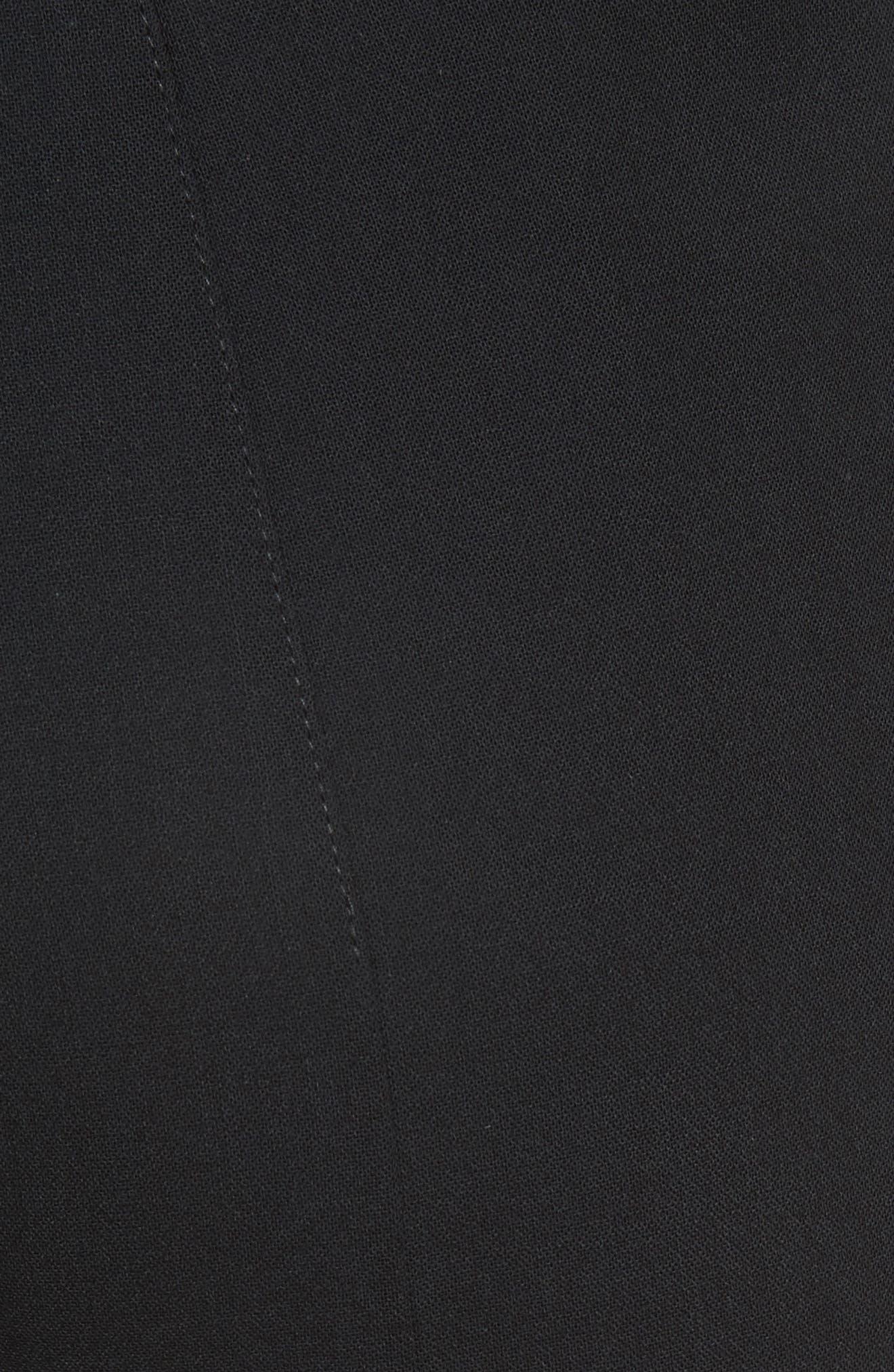 ,                             Melissa Wool Blend Pants,                             Alternate thumbnail 6, color,                             BLACK