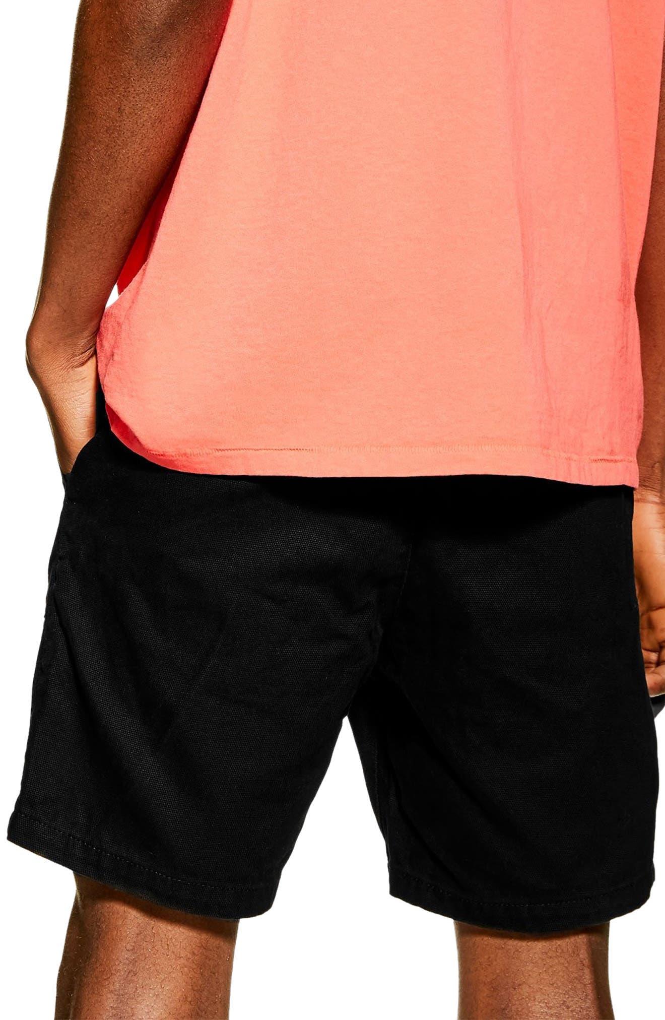 ,                             Slim Fit Utility Shorts,                             Alternate thumbnail 2, color,                             BLACK