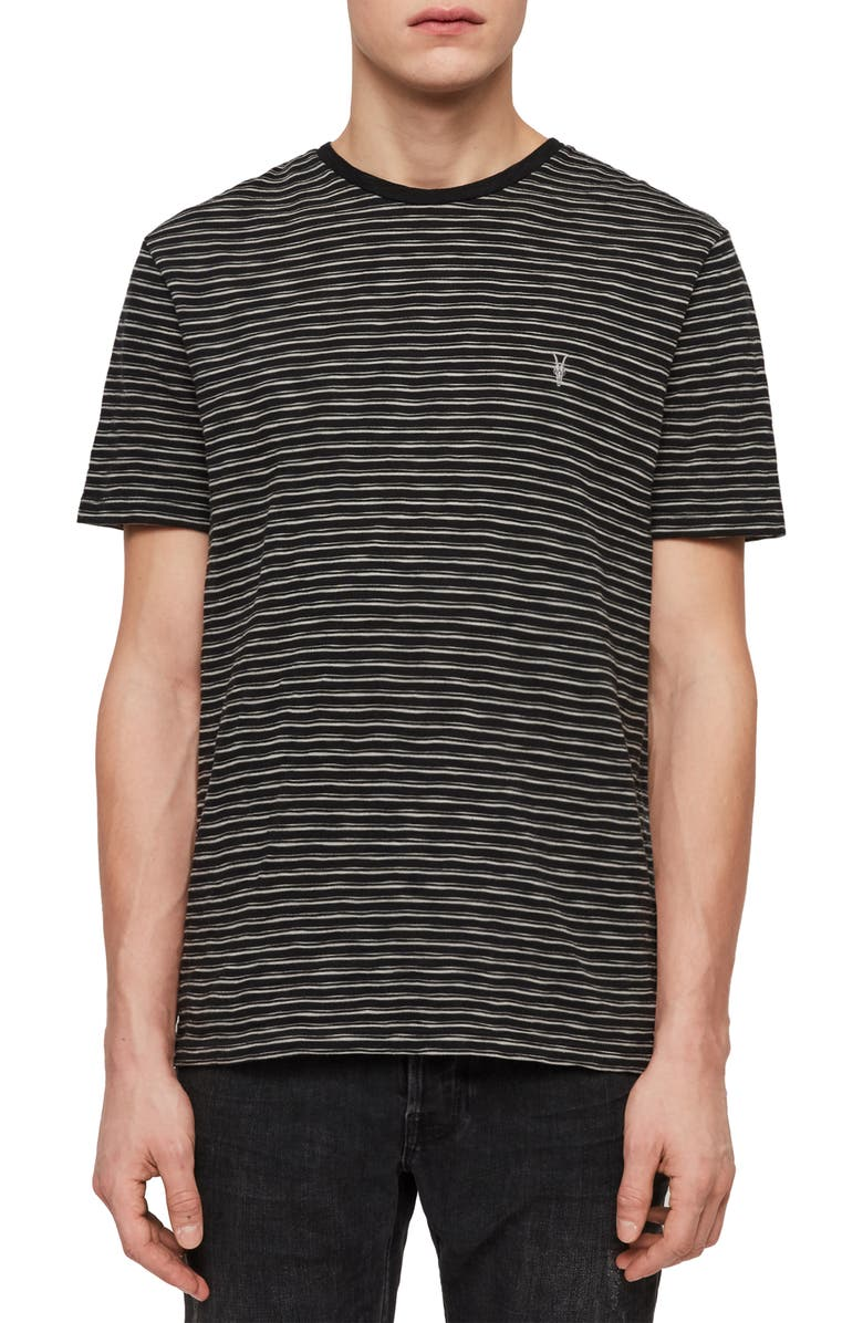ALLSAINTS Mana Slim Fit Crewneck T-Shirt, Main, color, CINDER BLACK/ GREY