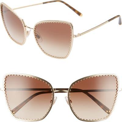 Dolce & gabbana Sacred Heart 61Mm Gradient Cat Eye Sunglasses - Gold Gradient