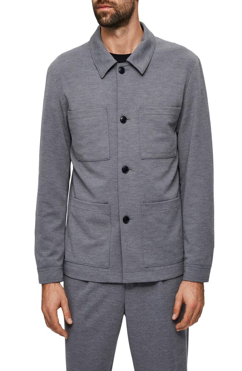 SELECTED HOMME Jim Flex Hybrid Jersey Blazer Jacket, Main, color, LIGHT GREY MELANGE
