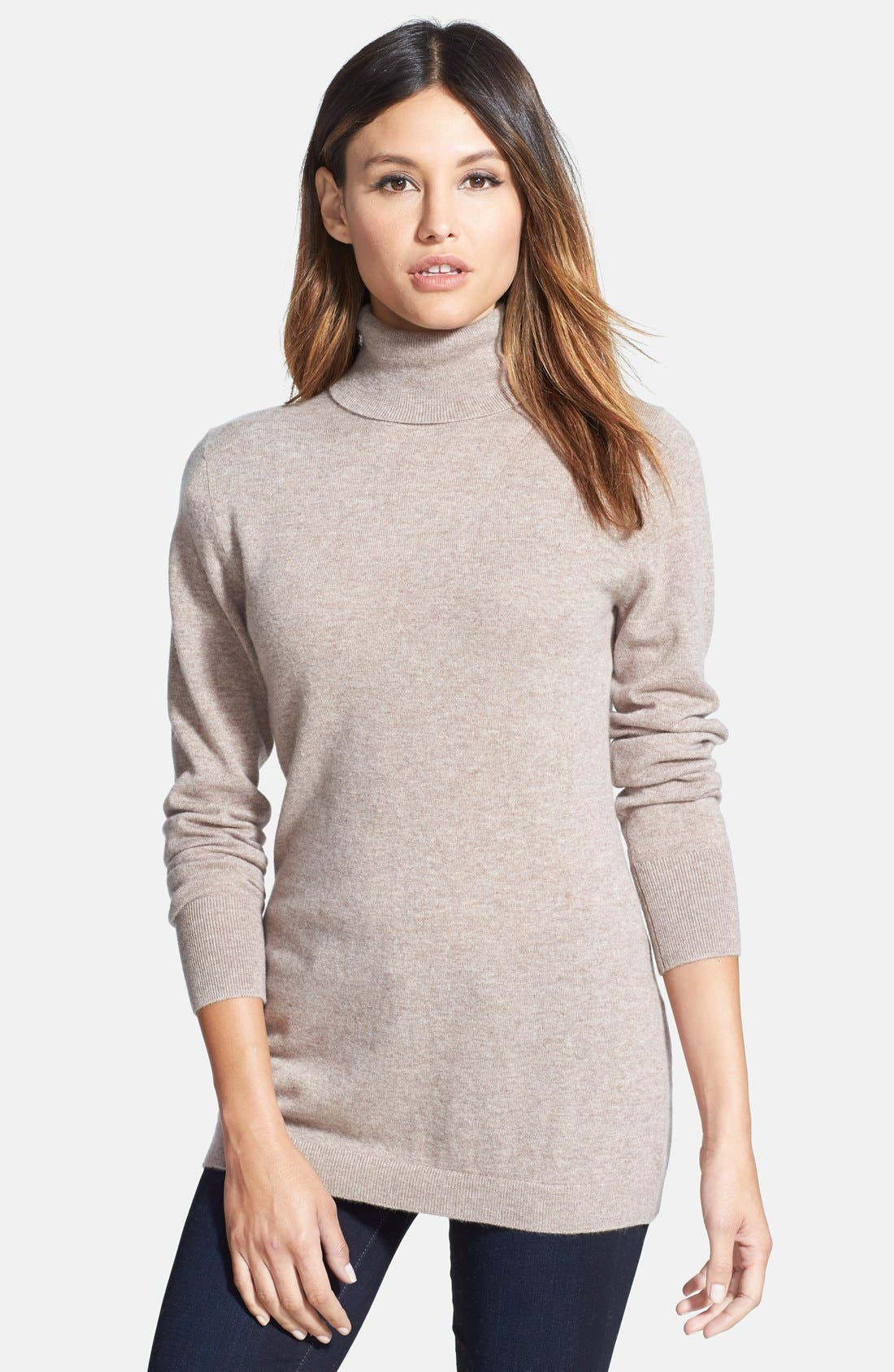 ,                             Long Cashmere Turtleneck Sweater,                             Main thumbnail 15, color,                             238