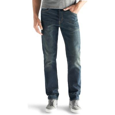 Devil-Dog Dungarees Slim-Straight Fit Performance Stretch Jeans, Blue