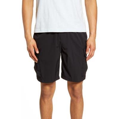 Saturdays Nyc Pete Drawstring Cargo Shorts, Black