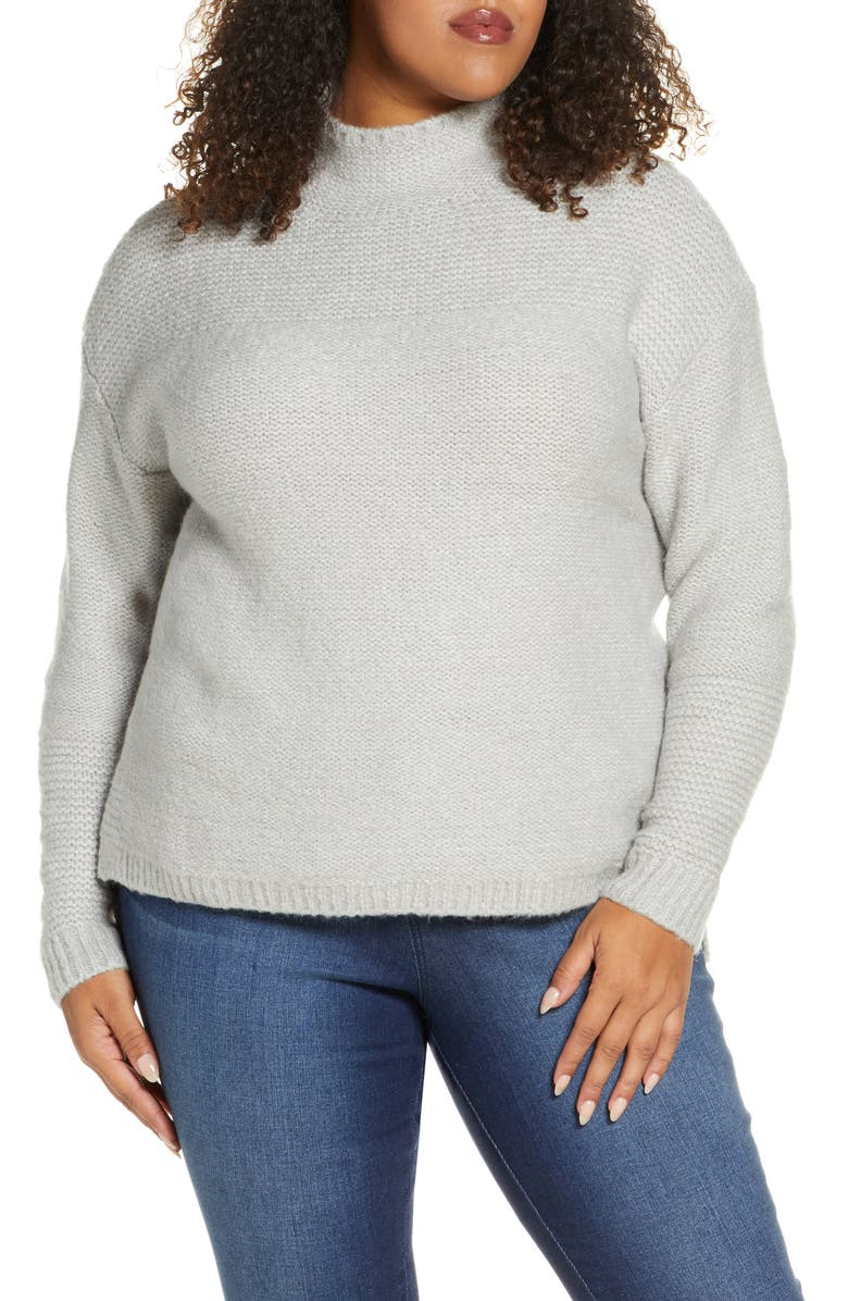 CASLON<SUP>®</SUP> Mock Neck High Low Sweater, Main, color, 050