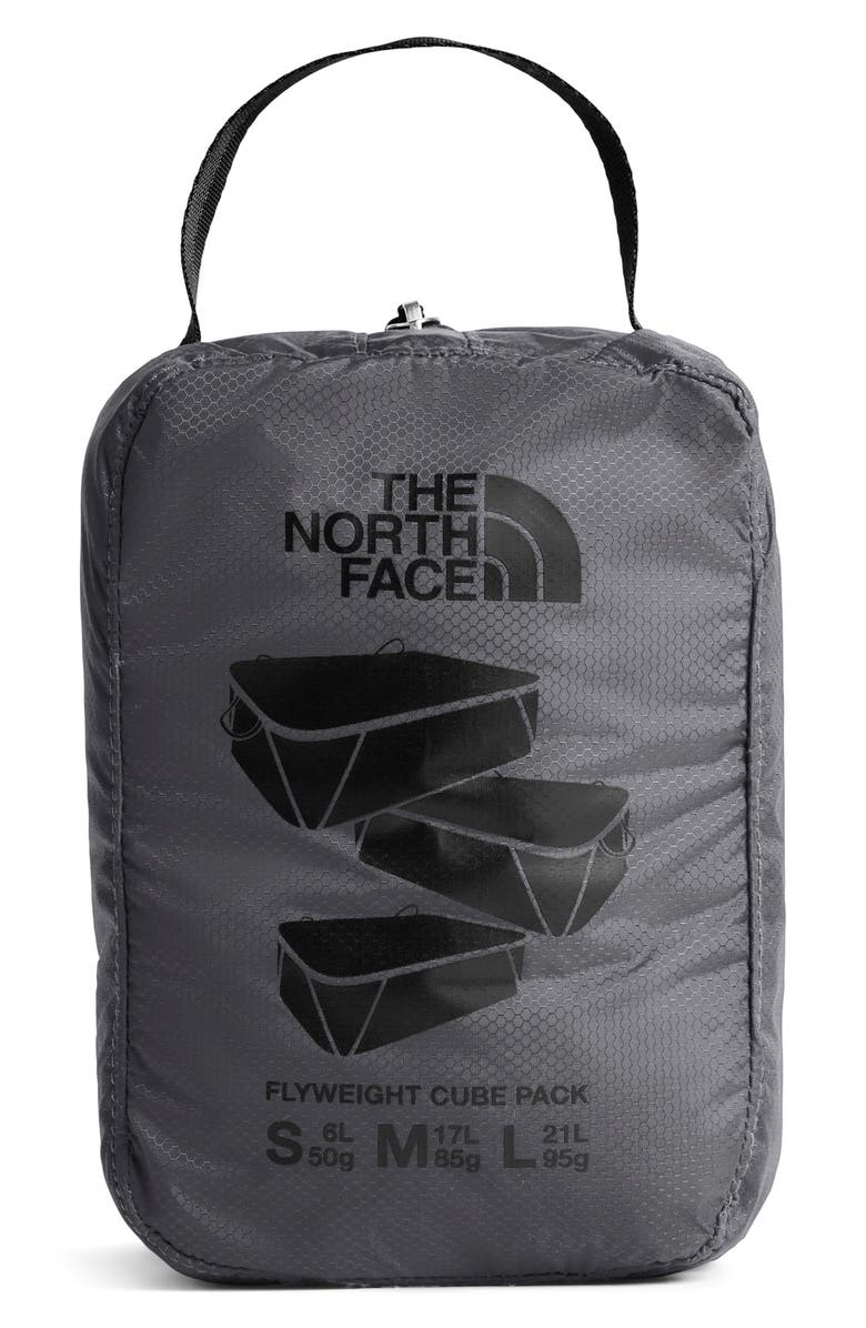 THE NORTH FACE Flyweight Zip Pouches, Main, color, BLACK