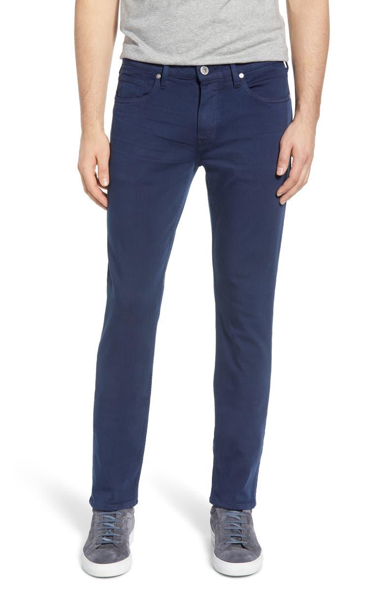 PAIGE Transcend Federal Slim Straight Leg Jeans, Main, color, VINTAGE INFINITY NAVY