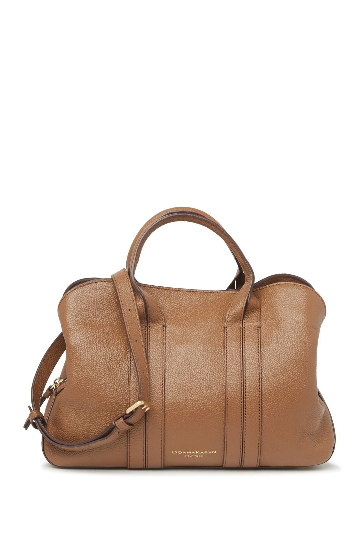 Image of Donna Karan Perry Leather Large Satchel