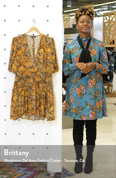 Camilla Floral Print Minidress, sales video thumbnail