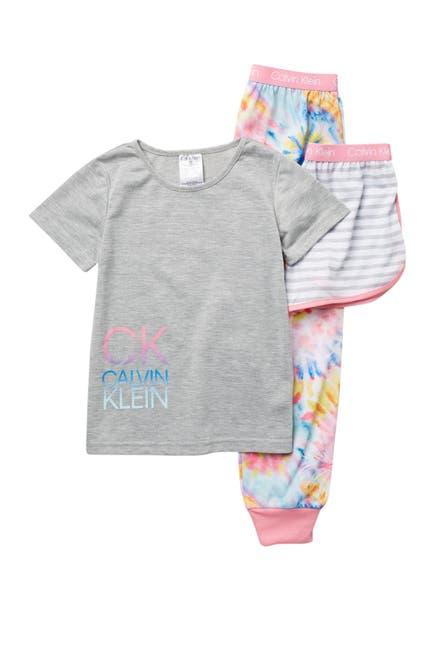Image of Calvin Klein T-Shirt, Shorts, & Pants - 3-Piece Set