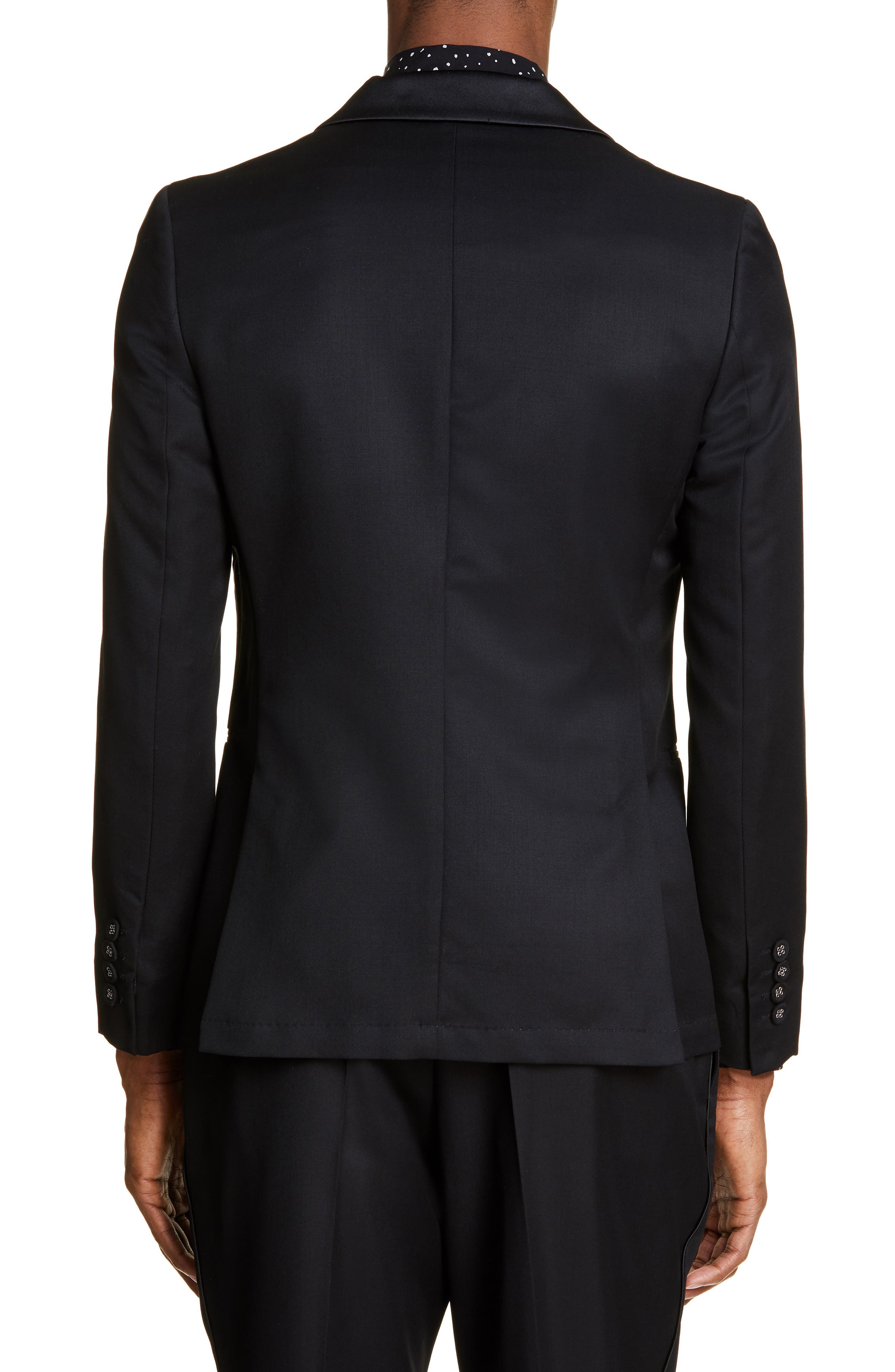 ,                             Wool Dinner Jacket,                             Alternate thumbnail 2, color,                             BLACK